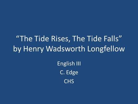 Henry Wadsworth Longfellow Lesson Plans & Worksheets